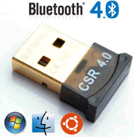 USB Bluetooth Ver 4.0 Dongle / Adapter, CSR Chipse...