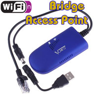 Vonets WiFi N 300Mbps Wireless Bridge / Repeater / Access Point, [VAP11G-300], Multi Power Input, Mini Sized