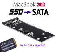 SSD Card to Standard SATA Converter for Apple Macbook Air / Pro / Retina 2012 model. [N-2012]