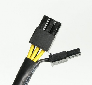 Dual SATA to 8pin / 6pin (6+2 pins) Power Cable Adapter for PCI-E Card