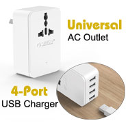 Orico Universal AC Power Outlet Surge Protector + ...