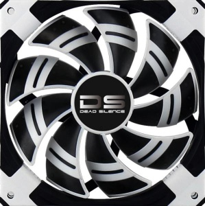 Aerocool DS Fan 12cm-White w/ LED, Dual Material, ...