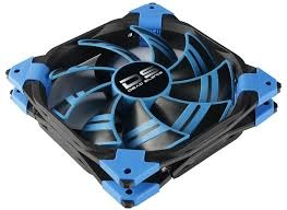 Aerocool DS Fan 14cm-Blue w/ LED, Dual Material, Fluid Dynamic Bearing, Noise Reduction