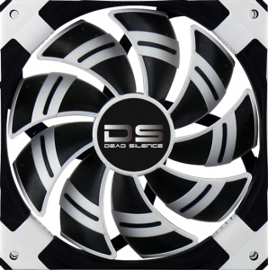 Aerocool DS Fan 14cm-White w/ LED, Dual Material, ...
