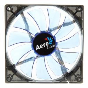 140mm Aerocool Lightning Fan 14cm-Blue w/ LED, 11-Blade Design, 48.0CFM, 22.0DBA