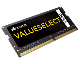 4GB Corsair DDR4, 2133MHZ 1x260 SODIMM 1.20V