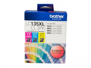 LC135XL COLOUR VALUE PACK 1XCYAN 1X MAGENTA 1X YEL...