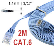 CAT.6 Flat Patch Cable 2M straight