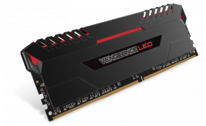 16GB Corsair VENGEANCE LED (2 x 8GB) DDR4 DRAM 2666MHz C16 Memory Kit - Red LED (CMU16GX4M2A2666C16R)