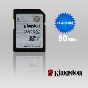 128GB Kingston SDHC Class10 UHS-I 80MB/s Read Flas...