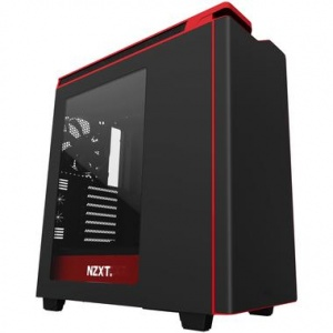 NZXT H440(2015) MATTE BLK/RED MID TOWER