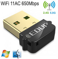 EDUP 802.11AC 650Mbps Dual-Band USB Adapter, [EP-AC1651], Win / Mac