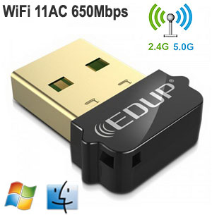 EDUP 802.11AC 600Mbps Dual-Band USB Adapter,Win / Mac / Linux