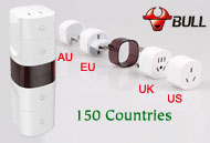 BULL Universal Travel Power Adapter / Converter Multi Plugs & Sockets, [GN-L07X]
