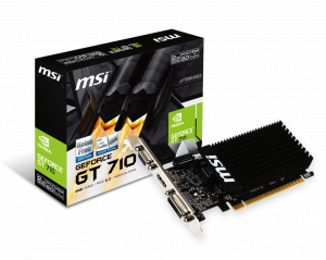 MSI GT 710 2GB HDMI LP VGA CARD PCIE2,DVI/HDMI/VGA...