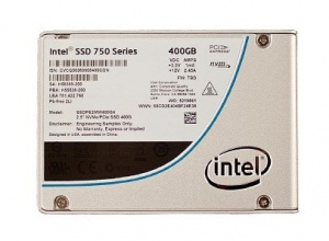 400GB Intel 750 SSD Series , 2.5in x 15mm PCIe 3.0...