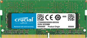 8GB Crucial DDR4 SODIMM PC19200-8GB 2400Mhz Single...