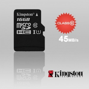 16GB KINGSTON SDC10G2/16GBFR microSDHC Class 10 UH...