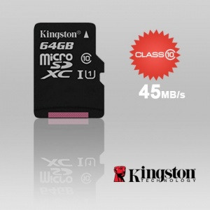 64GB KINGSTON SDC10G2/64GBFR microSDXC Class 10 UH...