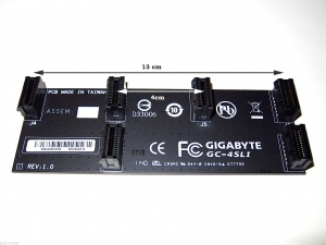 Gigabyte Flexible nVidia 4-Way SLI Bridge, Cards between 12cm