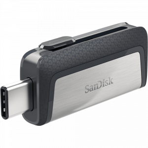 32GB SanDisk Ultra Dual Drive USB Type C, SDDDC2 , USB Type C, Black, USB3.1/Type C reversible connector, Retractable Design , Type-C enabled Android