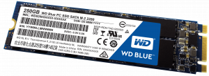 250GB WD Blue, M.2 Form Factor, SATA Interface,  C...
