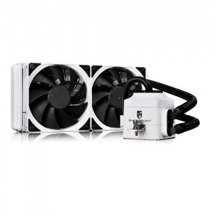 DeepCool White Gamer Storm Captain 240EX Enclosed ...