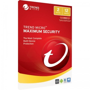 Trend Micro Maximum Security 2017 (1-2 Devices) 1 Year Multi-Device OEM (No CD Media)