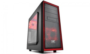 DeepCool Black & Red Tesseract SW-RD Mid Tower...