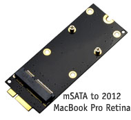 mSATA SSD to MacBook Pro Retina 2012 Adapter / Con...