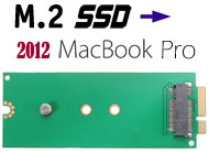 M.2 / NGFF SSD to 2012 MacBook Pro Adapter / Conve...
