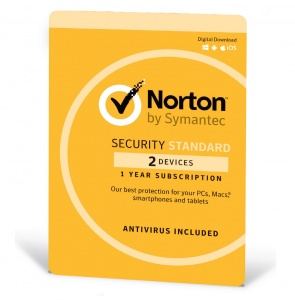 Norton Security Standard 1 User, 2 Device , 1 Year OEM - Digital Download