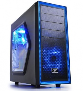 Deepcool Tesseract SW Black Mid Tower Case with Si...