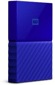 4TB WD My Passport Portable Hard Drive-Blue