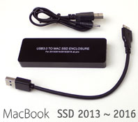 USB 3.0 Enclosure for Mackbook SSD 2013 ~ 2016 Mod...