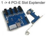 PCI Express Slot Extender 1 to 4 Riser Card, Extra 3 PCI-E 1x Slot