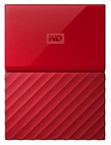 1TB WD My Passport USB3.0 Portable Hard Drive- Red