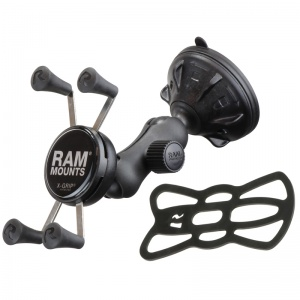 RAM Composite Twist Lock Suction Cup Mount with Universal X-Grip Cell Phone Cradle