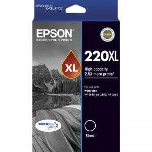 220XL High Capacity DURABrite Ultra Black ink(Epson WorkForce WF-2630, WF-2650, WF-2660)