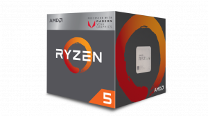 AMD AMD Ryzen 5 2400G, 4-Core/8 Threads, Max Freq 3.9GHz, 6MB Cache Socket AM4 65W, with Wraith Stealth cooler, RX Vega Graphics