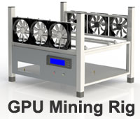 Crypto-currency Mining Rig Frame - 6 Fans, Support...