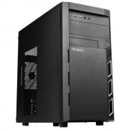 Antec VSK3000 Elite Black Mid-Tower Case; Support microATX; Mini-ITX Motherboard with 2 x USB 3.0 Front Ports