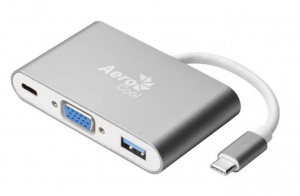 Aerocool USB Type-C to VGA HD, USB 3.0 & USB Type-C Power Hub & Dock