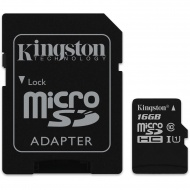 Kingston 16GB microSDHC Canvas Select 80R CL10 UHS...