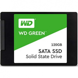 WD Green 3D NAND SSD, 2.5 Form Factor, SATA Interface, 120GB, CSSD Platform, 3Yr Warranty