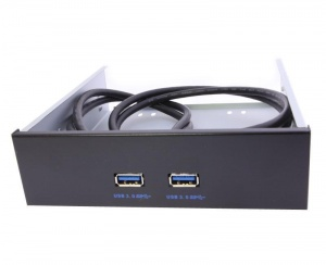 "5.25"" Dual USB 3.0 Front Panel to 19-Pin Inte..."