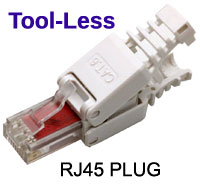 Tool-less RJ45 Plug / Connector - CAT6 8P8C