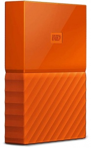 My Passport 1TB USB3.0 Portable Hard Drive- Orange
