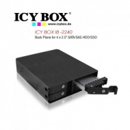 "ICY BOX- IB-2222SSK - 4x 2.5"" Dual Channel SA..."