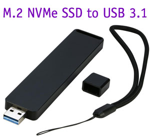 M Key M.2 SSD to USB 3.1 Type A Aliminium Enclosur...